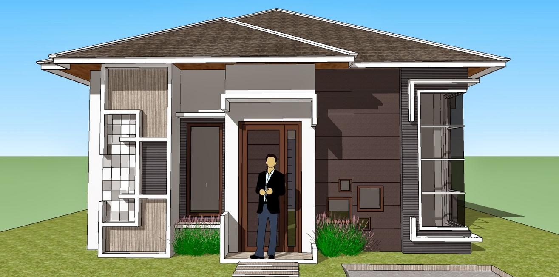 desain rumah kecil minimalis sederhana