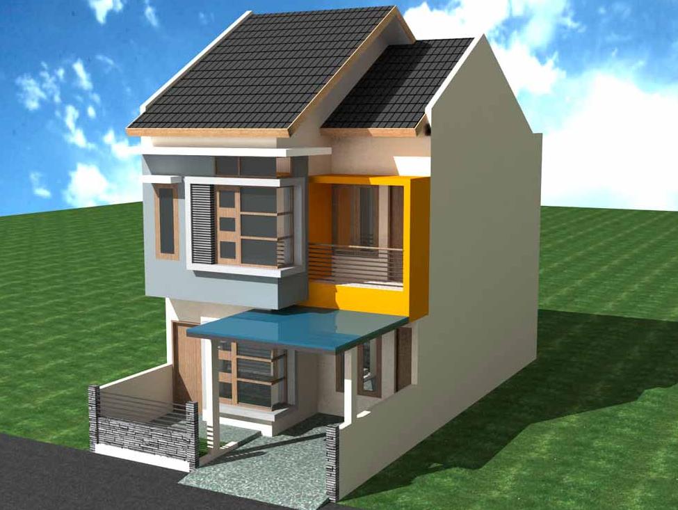Ide menarik desain rumah minimalis 2 lantai type 45 dengan kombinasi pemilihan warna cat yang menarik
