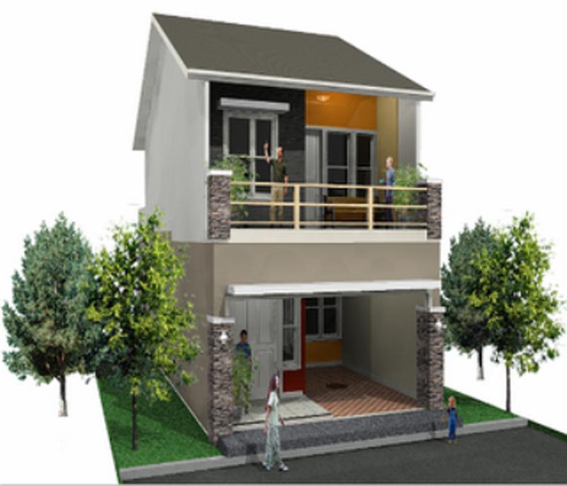 Contoh Gambar Desain Rumah Minimalis Type 45 1 Dan 2