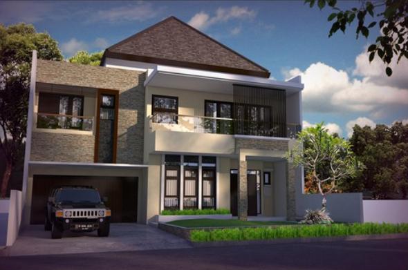 desain rumah klasik minimalis 2 lantai