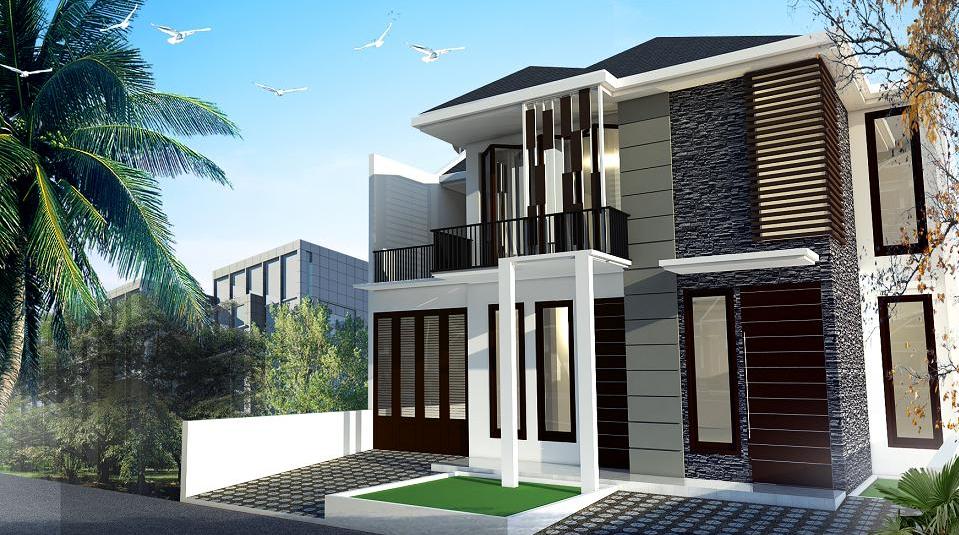desain exterior rumah minimalis 2 lantai