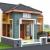 Gambar desain rumah minimalis dengan model teras unik dipinggir jalan